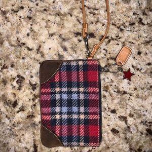 Vintage Coach wool wristlet